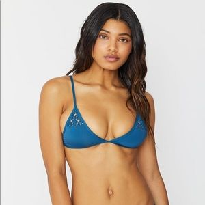 Frankie's Bikini Deep Sea Blue Tanner Top
